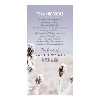 Frosty Meadow | Winter | Sympathy Thank You Card