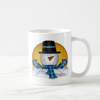 Frosty melting snowman coffee mug