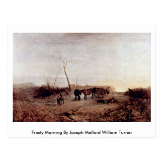 Frosty Morning By Joseph Mallord William Turner Postcard