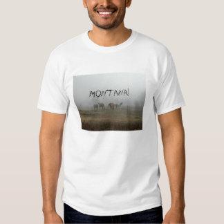 Frosty Morning Fog Montana T-Shirt