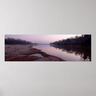 Frosty Morning Sunrise, Cimarron River - I Poster