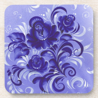 Frosty pattern drink coaster