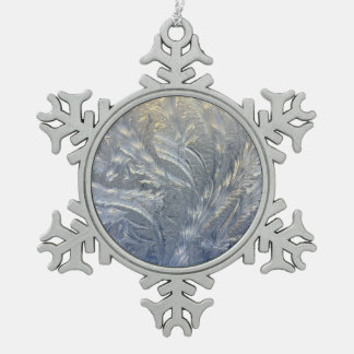Frosty Pewter Snowflake Ornament
