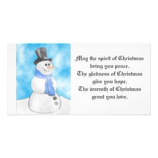 Frosty Photo Card