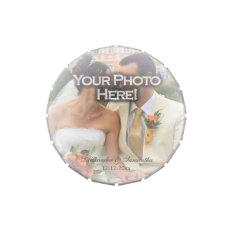Frosty Photo Overlay Wedding Custom Favor Jelly Belly Candy Tin at Zazzle