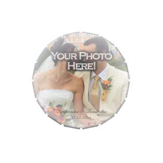 Frosty Photo Overlay Wedding Custom Favor Jelly Belly Tin