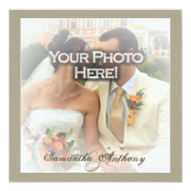 Frosty Photo Overlay Wedding Invitations