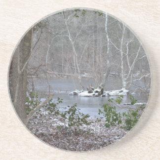 Frosty Pond Drink Coasters