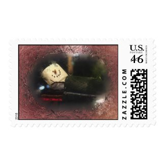 Frosty Red S'mores Snowman Postage