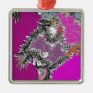 Frosty Reflections (Fuchsia) Metal Ornament