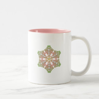 Frosty Rose Winter Christmas Snowflake Coffee Mugs
