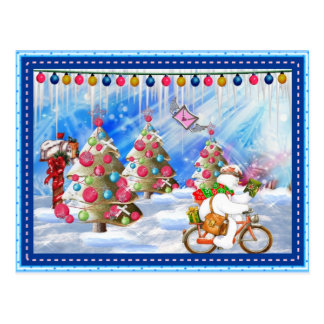Frosty s Holiday Delivery Christmas Postcard