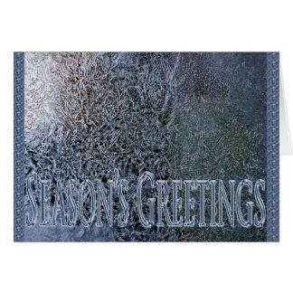 frosty seasons greetings card