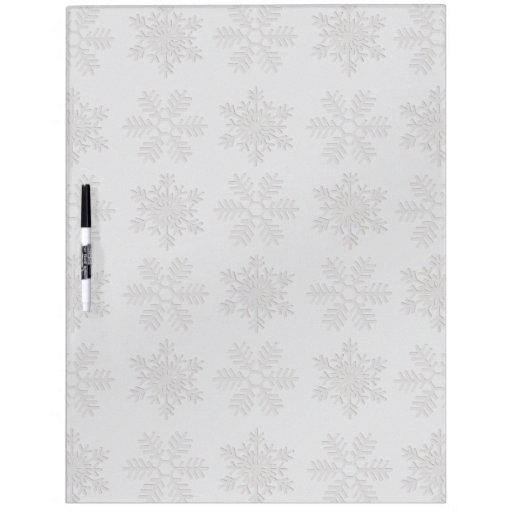 Frosty Silver Snowflakes Dry-Erase Boards