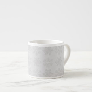 Frosty Silver Snowflakes Espresso Cup