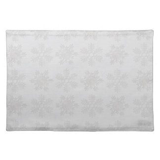Frosty Silver Snowflakes Placemat