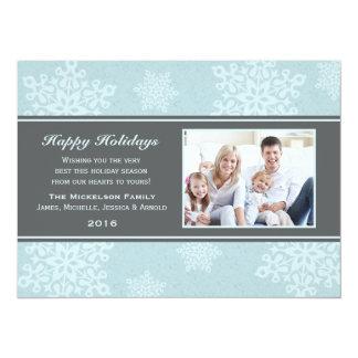 "Frosty Snow Fall Holiday Flat Card 5.5"" X 7.5"" Invitation Card"