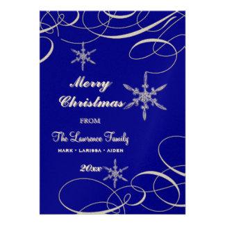 Frosty Snowflake Christmas Photo Greeting Cards Custom Invitation
