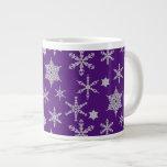 Frosty Snowflake Diamond Sparkle Elegant & Trendy Extra Large Mug
