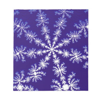 Frosty snowflake effect 3D fractal. Notepad