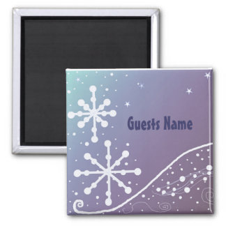 Frosty Snowflake Place Holder Magnet