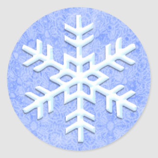 Frosty Snowflake Stickers