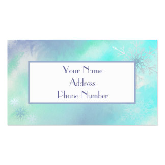 Frosty Snowflakes Calling Card Business Card