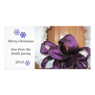Frosty Snowflakes Photo Greeting Card