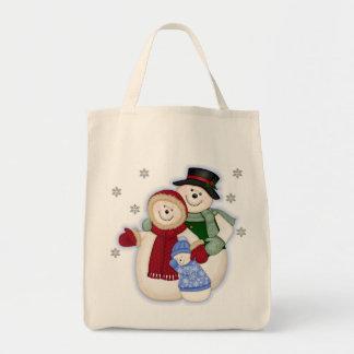 Frosty Snowman Family - Blue Bag