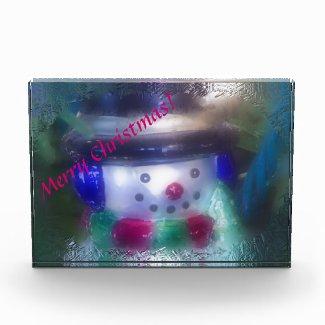 Frosty Snowman Merry Christmas Award