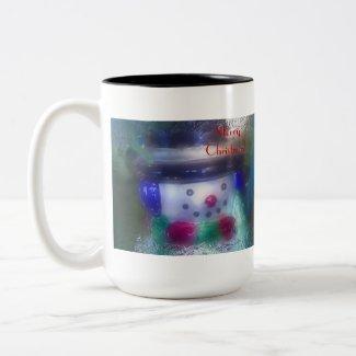 Frosty Snowman Merry Christmas Mug