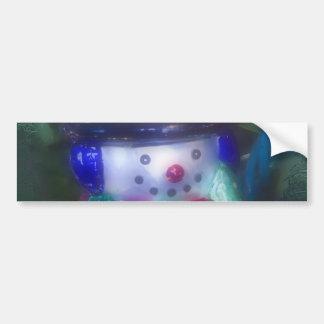 Frosty Snowman Ornament Bumper Sticker