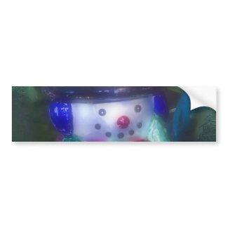 Frosty Snowman Ornament Bumper Stickers
