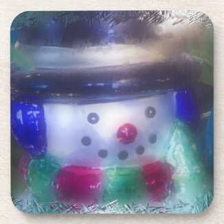 Frosty Snowman Ornament Coaster