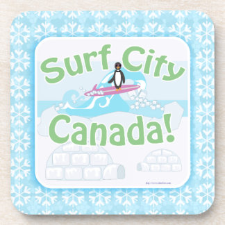 Frosty Surf City Canada Beverage Coaster
