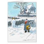 Frosty takes a leak card