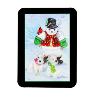 Frosty terrier adventures magnet