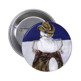 Frosty the Cowboy Button