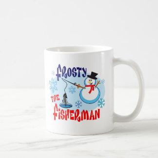 Frosty the Fisherman Coffee Mug