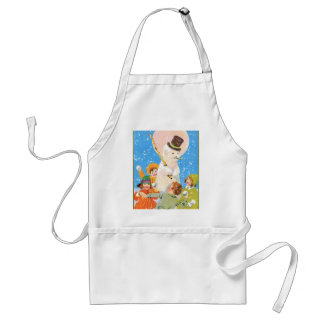 Frosty The Snowman and Children Adult Apron