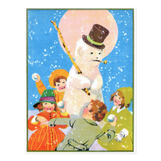 Frosty The Snowman and Children Postcard