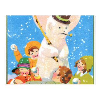 Frosty The Snowman and Children Postcards