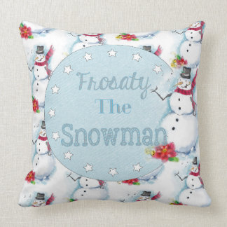Frosty the Snowman Inspired Pillow
