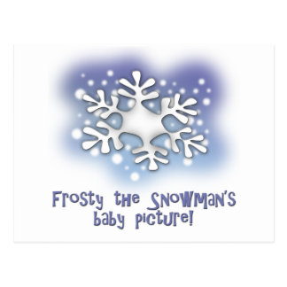 Frosty the snowman s baby pictures postcard