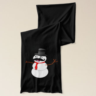 Frosty The Snowman With A Mustache Scarf