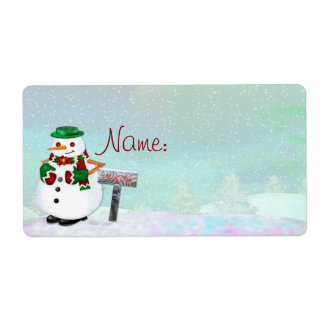 Frosty Town Christmas NAME TAG or CUSTOMIZE IT Label