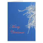 Frosty Tree Merry Christmas Card