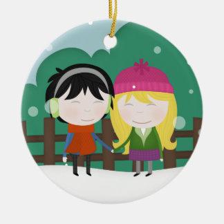 Frosty walk ornaments