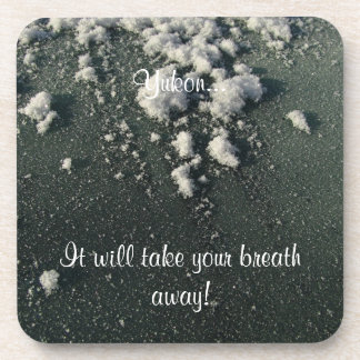Frosty Window; Yukon Territory Souvenir Beverage Coaster
