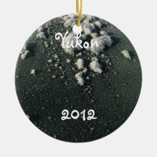 Frosty Window; Yukon Territory Souvenir Ceramic Ornament
